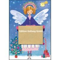 Carte dble Joyeux Noël ou Nouvel an Mila Marquis L'Ange