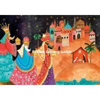 Carte dble Joyeux Noël ou Nouvel an Mila Marquis Les Rois Mages