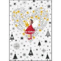 Carte double Joyeux Noël ou Nouvel an Nina L'Ange dans le Coeur