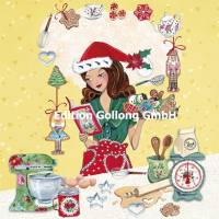 Carte Joyeux Noêl ou Nouvel an Cartita Design Cuisine de Noël