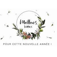 """Carte de Nouvel an Claire Hennen """"Meilleurs Voeux"""""""