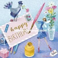 "Carte Anniversaire Mila Marquis La lettre ""Happy Birthday"""