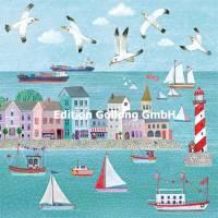 Carte Anniversaire Mila Marquis Maisons colorées sur le Port