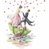 Carte Mariage Nina Chen Les Mariés et le Parapluie