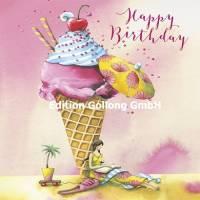 Carte Anniversaire Nina Chen Happy Birthday Cornet de Glace