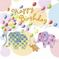 Carte Anniversaire Nina Chen Happy Birthday Petits Elephants