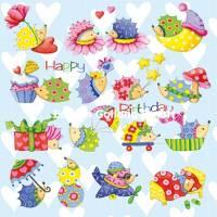 Carte Anniversaire Nina Chen Happy Birthday Petits Hérissons
