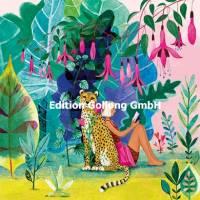 Carte Mila Marquis Jeune femme lisant dans la forêt exotique