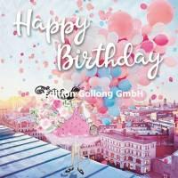 Carte Anniversaire Sabina Comizzi Jeune Fille et Ballons