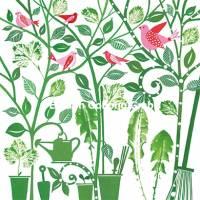 Carte Anniversaire Kerstin Hess Les Oiseaux dans les pots de fleurs