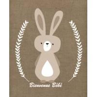 Carte artisanale naissance Petit Lapin