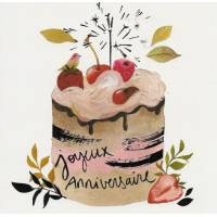 "Carte Anniversaire Tifalia ""Super Gateau aux fruits"""