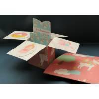 Carte Anniversaire Enfants 3 D Pop Up DIY Princesses et Licornes
