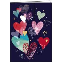 Carnet Les Coeurs 10,5 x 15 cm 40 pages