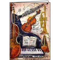 Carnet Instruments de Musique 10,5 x 15 cm 40 pages