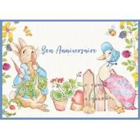 Carte Anniversaire enfants Peter Rabbit et Oie Jemima
