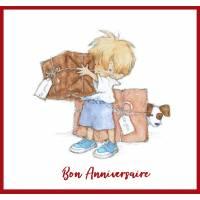 Carte Anniversaire enfants Petit Boy et Cadeaux