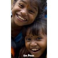 Carte Gros Bisous Deux Enfants joyeux