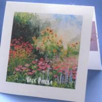 Carte parfumée Gros Bisous champ de Fleurs, parfum fleuri
