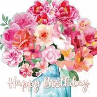 Carte Anniversaire Sabina Comizzi Bouquet de Fleurs rouges