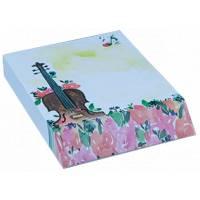 Bloc Notes imprimé Musique et Fleurs