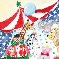 Carte Anniversaire Kerstin Hess Le Cirque, Paillettes