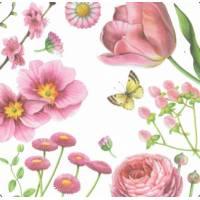 Carte Anniversaire Fleurs Ninan Chen Roses et Tulipes