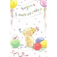 Carte Anniversaire Enfants LUDOM Les Ballons