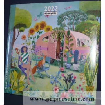 Calendrier 2022 30 x 30 Mila Marquis Le Van en Vacances