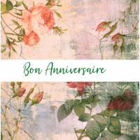 Carte Anniversaire Fleurs aquarelle artisanale Maddy