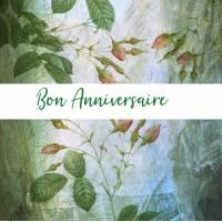 Carte Anniversaire Fleurs aquarelle artisanale Kate