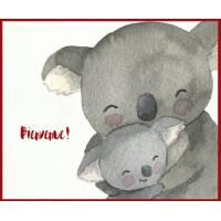 Carte Naissance artisanale Carte Naissance artisanale Maman Koala et Bébé
