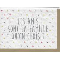 """Carte à planter courrier fleuri, """"Les amis sont la famille qu'on choisit"""""""
