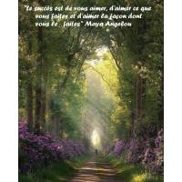 """Citation sur la Vie """"Le succès est de vous aimer..."""""""