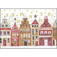 Carte calendrier de l'Avent Kerstin Hess Les Maisons