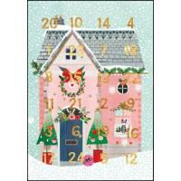 Carte calendrier de l'Avent La Maison de Noël