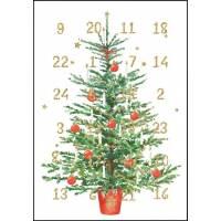 Carte calendrier de l'Avent Carola Pabst L'Arbre de Noël