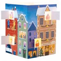Carte calendrier de l'Avent lumineux Les Maisons