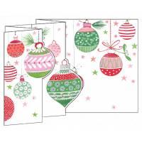 Carte Joyeux Noël et Nouvelle Année 3 D Boules de Noël