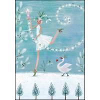 Carte Joyeux Noël ou Nouvel an dble Mila Marquis Princesse des Glaces