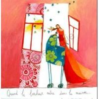 Carte Anne-Sophie Rutsaert Quand le bonheur entre dans la maison