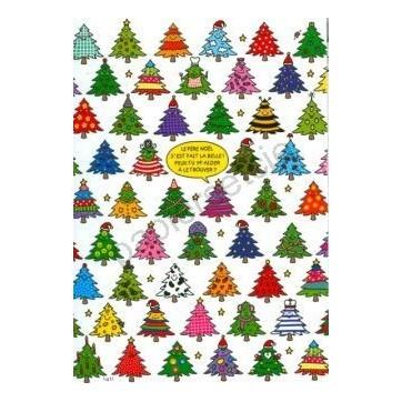Carte Lali Le Père Noël s'est fait la belle! Peux-tu m'aider à le retrouver?