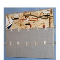 Pêle-Mêle 50x40 lin à pinces Noeuds marins hélice