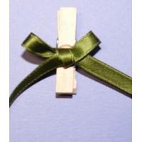 Pinces noeuds vert mousse