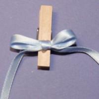 Pinces noeuds bleu clair