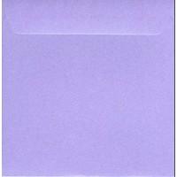 Enveloppe carrée violet nacré