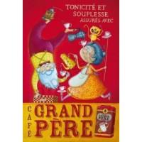 Poster Affiche Amandine Piu Câfé grand père