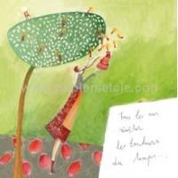 Carte Anne Sophie Rutsaert Tous les ans, récolter les bonheurs du temps...