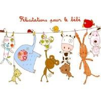 Carte Isabelle Chauvet Félicitations pour le bébé