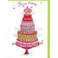 Carte double  Happy Birthday Gateau
